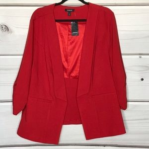 Torrid Red Slouched Sleeve Blazer Size 3